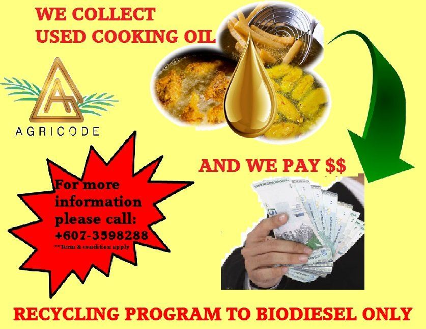 COLLECTION USED COOKING OIL FOR BIODIESEL