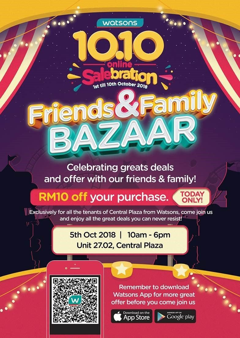 Watsons Friends & Family Bazaar @ 5th October 2018