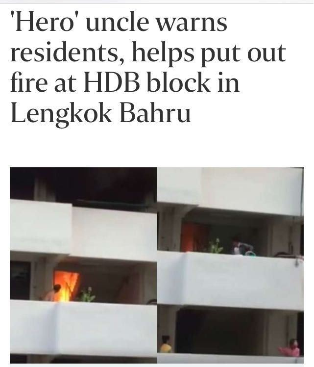 FIRE AT HDB BLOCK IN LENGKOK BAHRU (8/11/16)