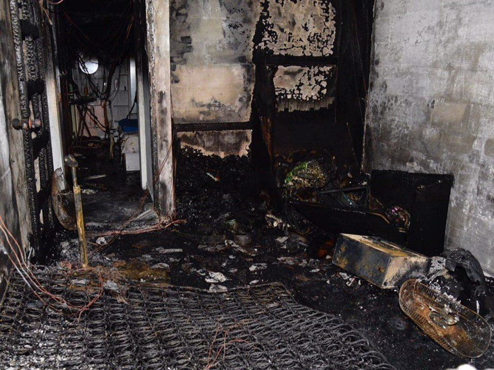 Fire in Serangoon North Flat