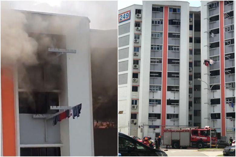 Fire breaks out in Jurong East HDB flat; man suffers burn injuries