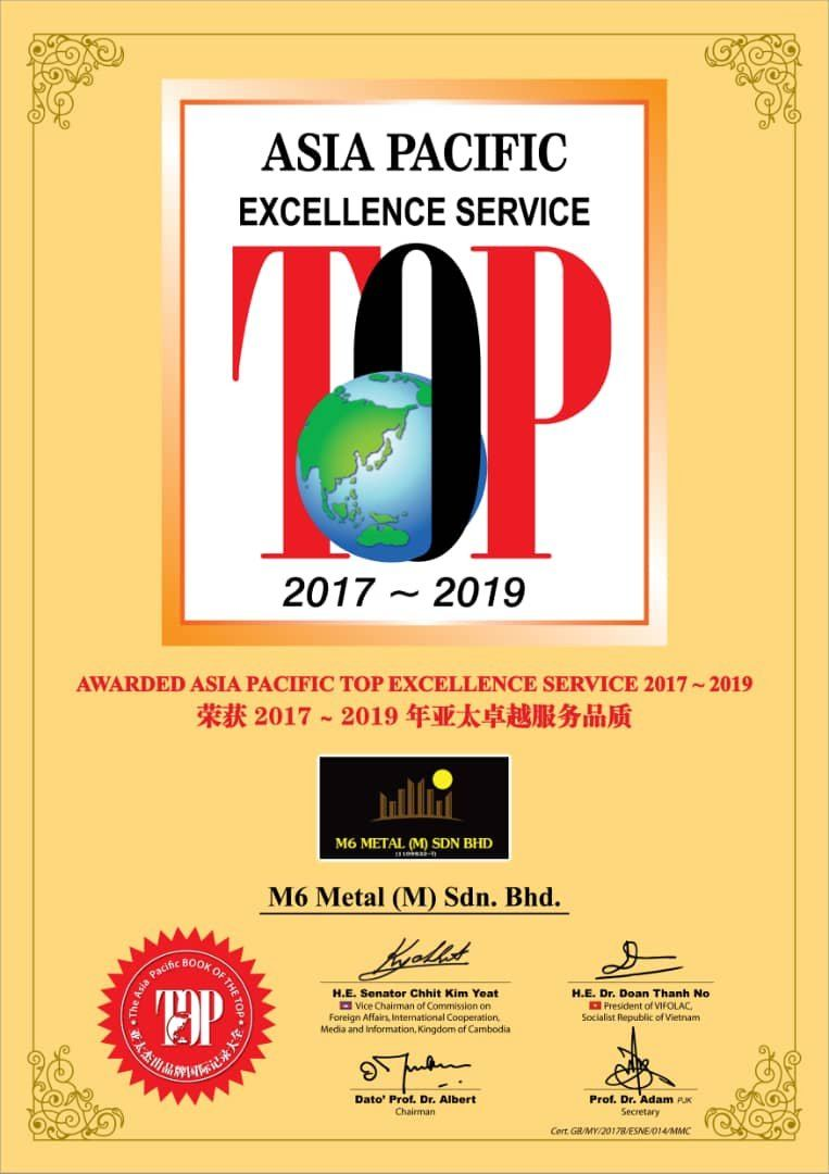 TOP ASIA PACIFIC EXCELLENCE SERVICE 2017-2019