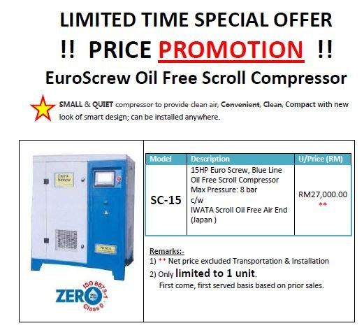 EuroScrew Oil Free Scroll Compressor