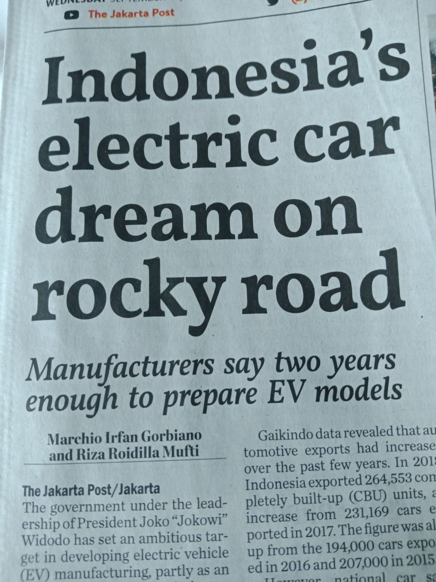 ARTICLE ON INDONESIA ELECTRCI CAR PROJECT