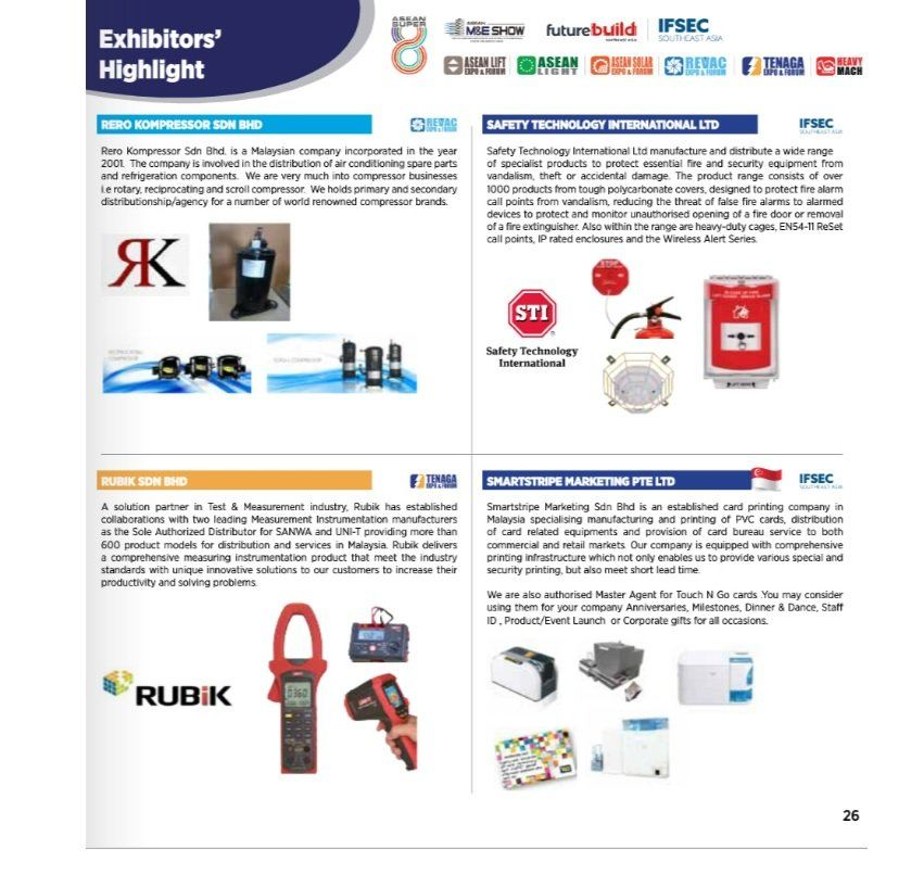 APPEARED IN THE PAGE 26 OF REVAC 2020 EXHIBITORS' HIGHLIGHT
