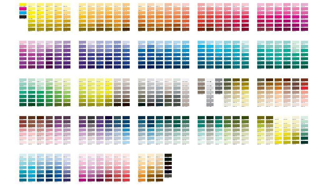 Sublimation Pantone Colors