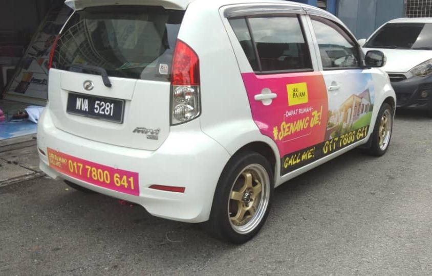 Car Wrapping / Myvi Sticker / Saga Sticker / Wira Sticker / Car Advertising