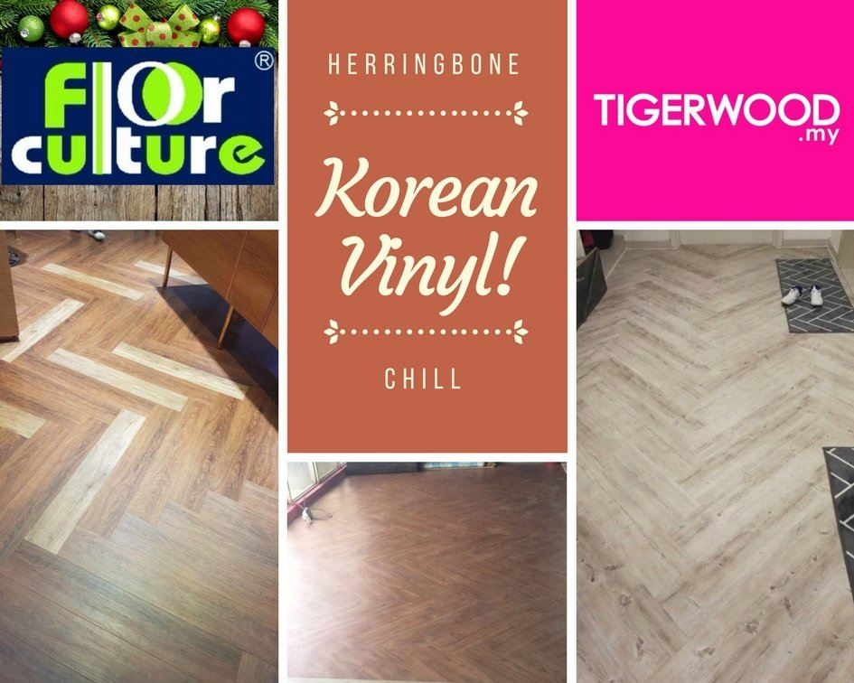 Korean Vinyl 3mm in Herringbone Design #donghwa