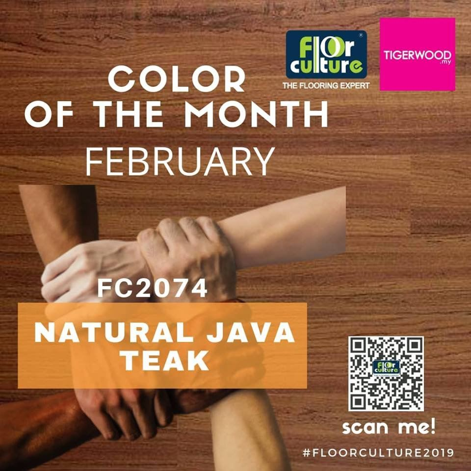 [February 2019] Color Of The Month- FC 2074 Natural Java Teak