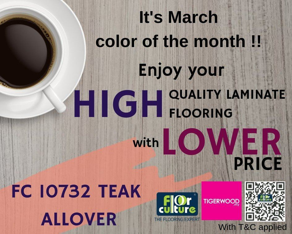 [March 2019] Color of The Month- FC 10732 Teak Allover
