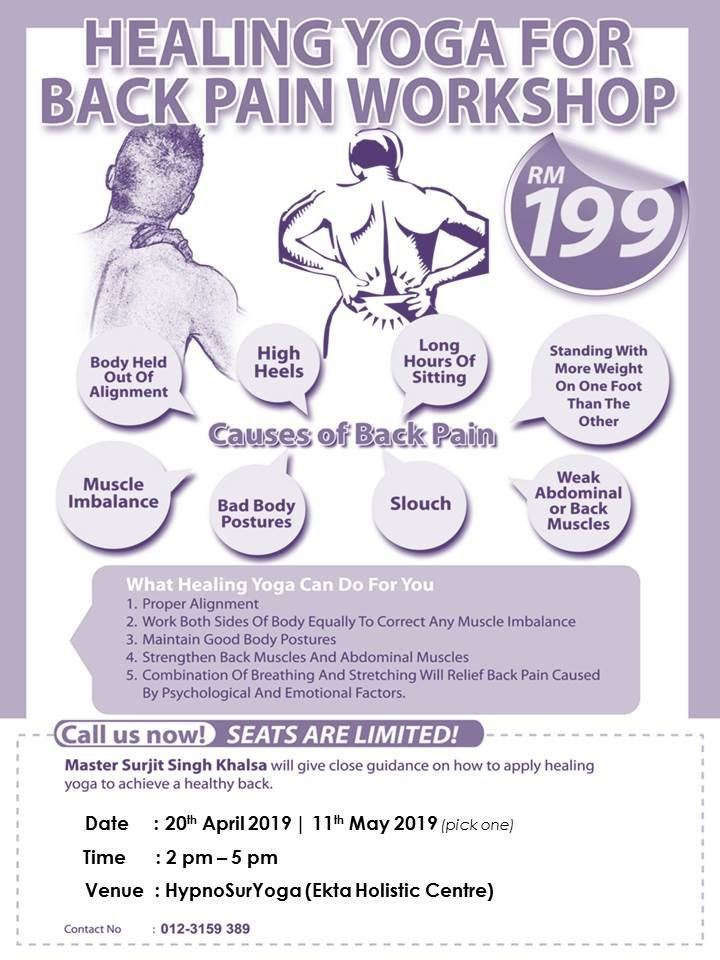 Healing Yoga for Back Pain Workshop