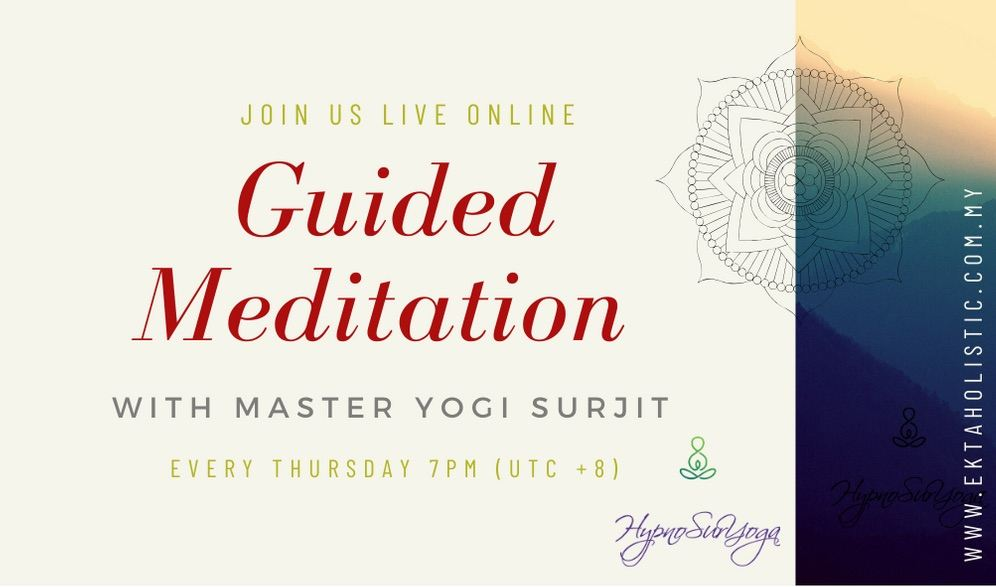 Live Guided Meditation With Master Yogi Surjit - Expanding Your Aura & Bio-energy Field