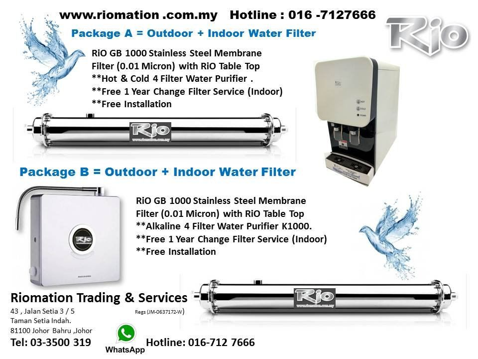 New Promotion Package Free 1 Year Change Filter Services in Schedule