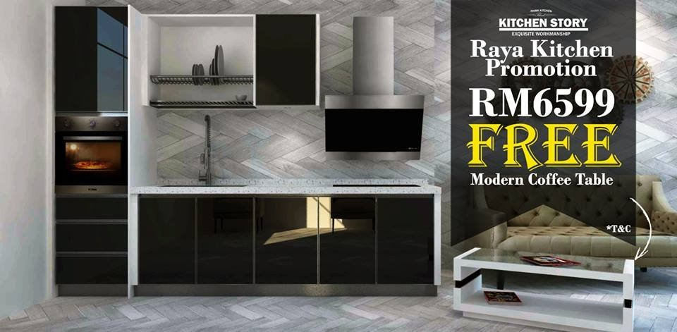 Raya Kitchen Promotion With Free Modern Coffee Table