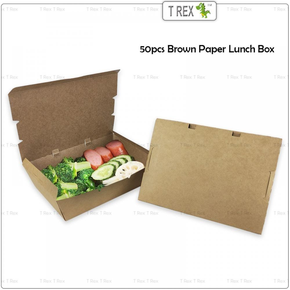 Brown Paper Lunch Box