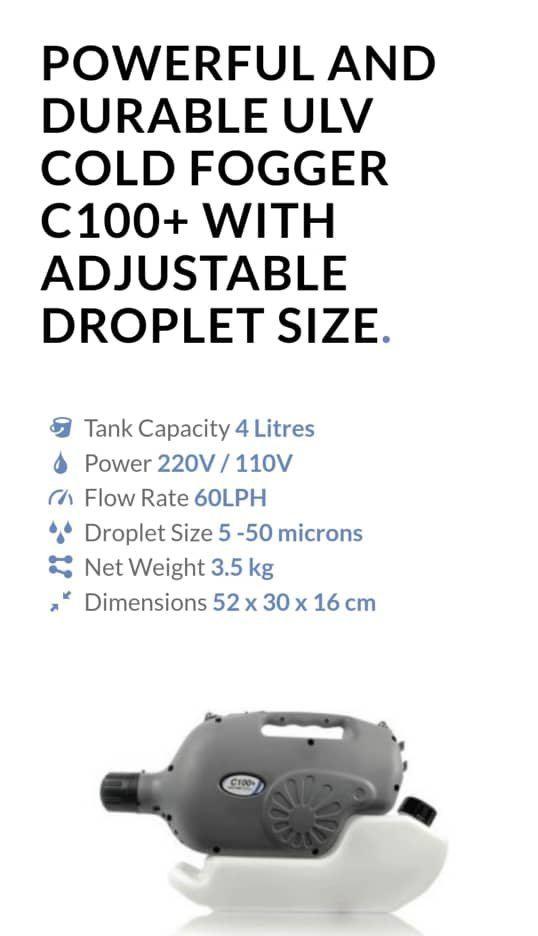 Vectorfog ULV Misting Machine C100 - 4 litre