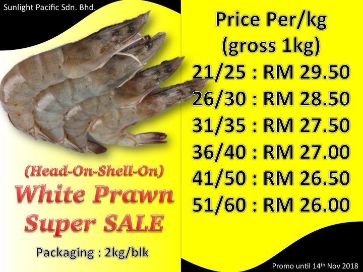 White Prawn Promo Oct 2018