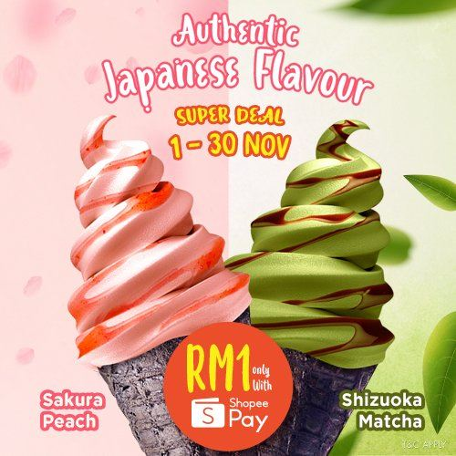 Authentic Japanese Flavour Ice Cream only RM1!