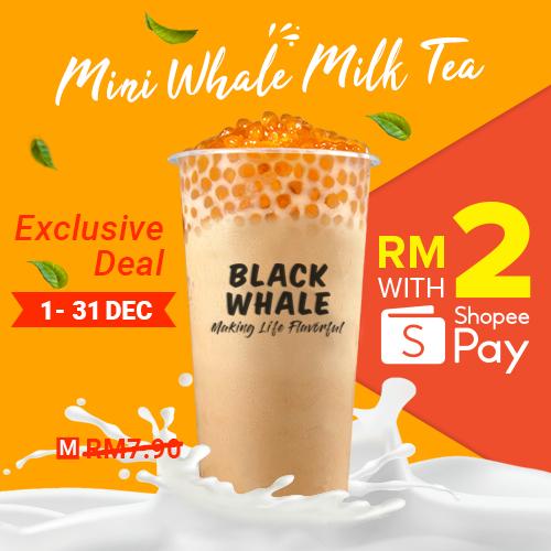 Mini Whale Milk Tea only at RM2!