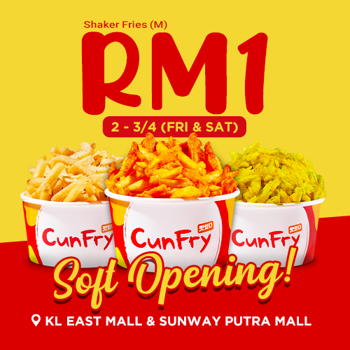 Black Whale ✘ CunFry Opening Soon at KL East Mall & Sunway Putra Mall