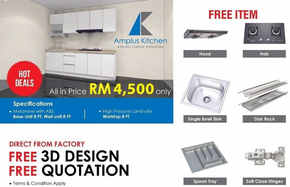 Hot Deals! All in Price RM4500 Only! (Free 3D Design)