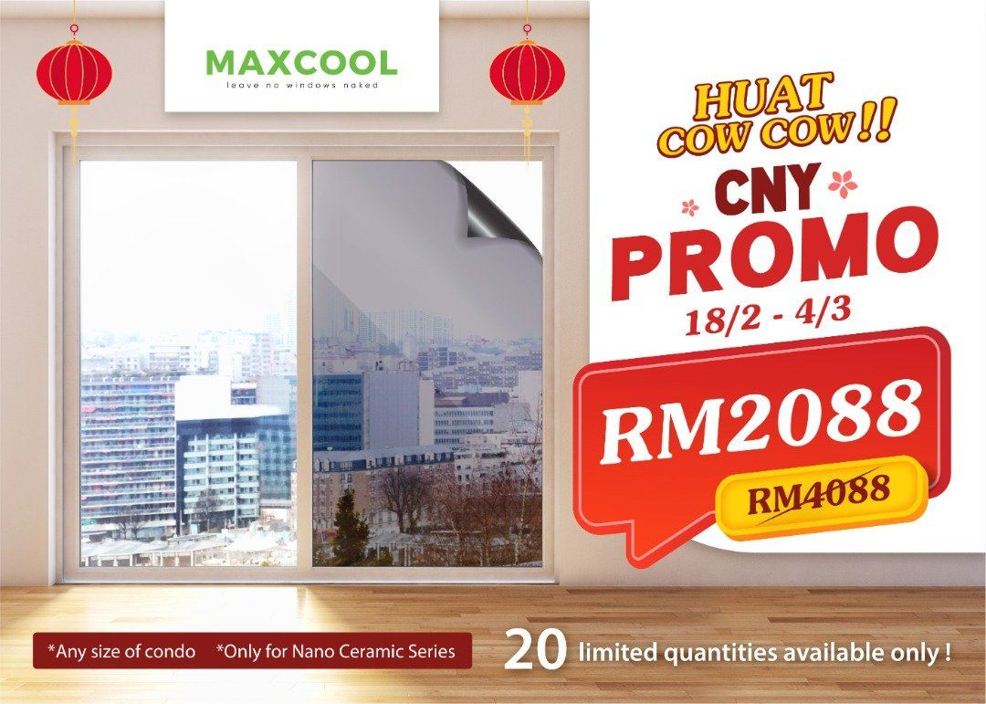 🎉 MAXCOOL HUAT COW COW CNY PROMO is finally here! 🎉