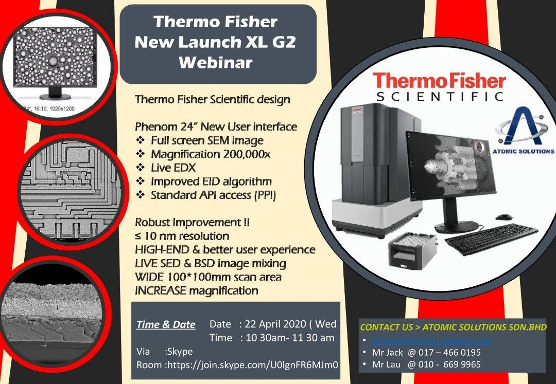 Webminar for NEW Thermo Scientific Phenom XL G2 Introduction