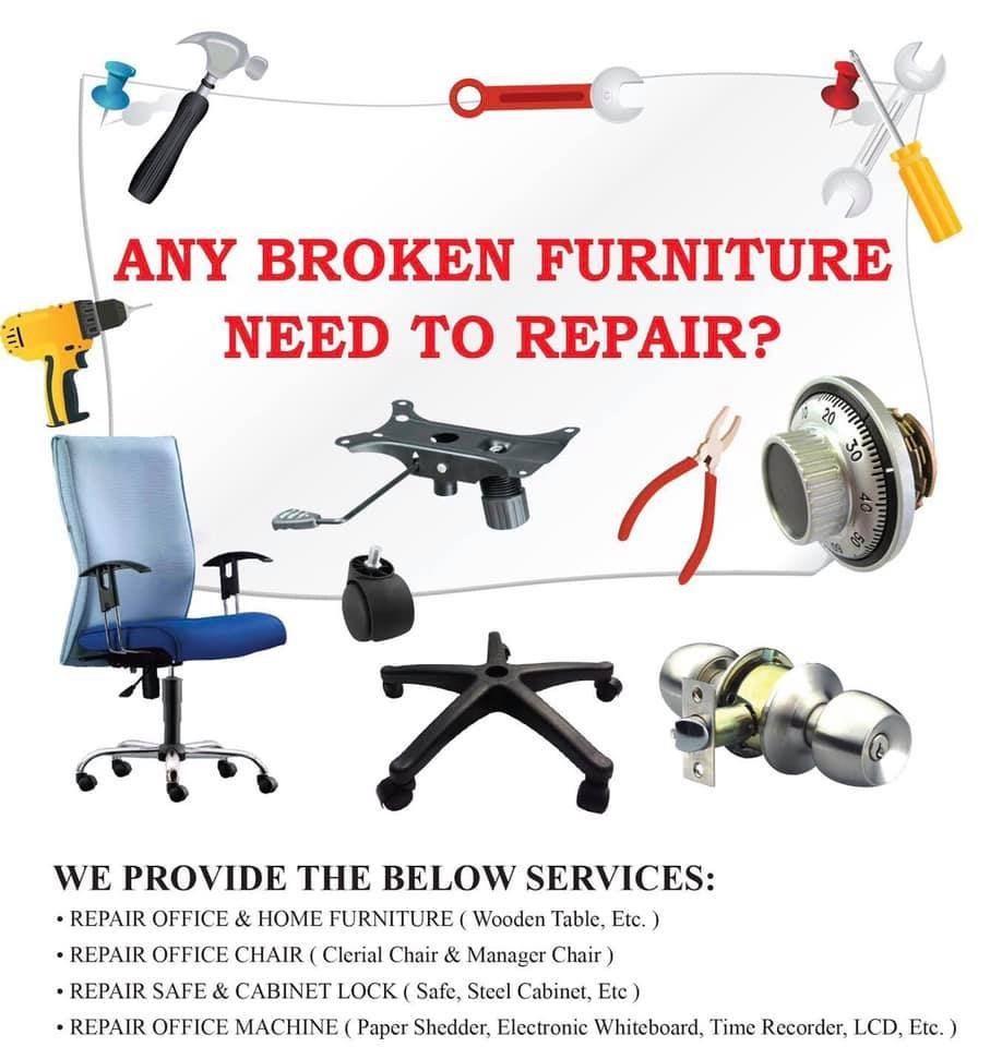 Any broken furniture need to repair?