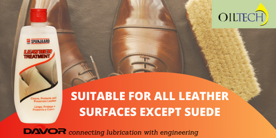 Suitable for all leather surfaces except suede