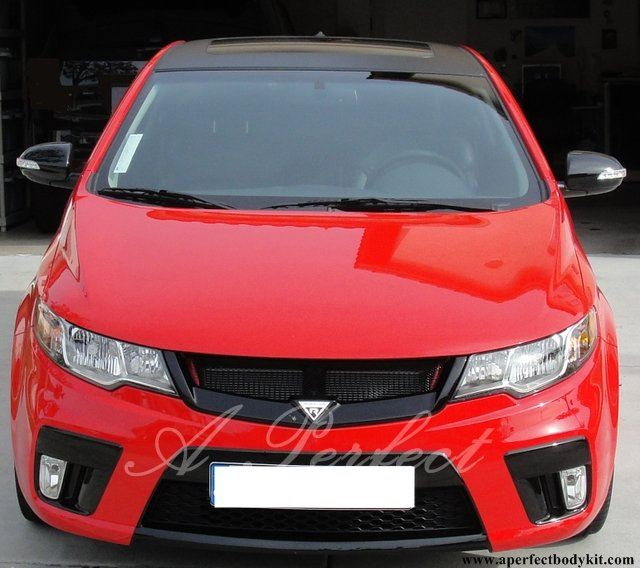 Kia Forte Covert Koup Bumper & RR Style Front Grill