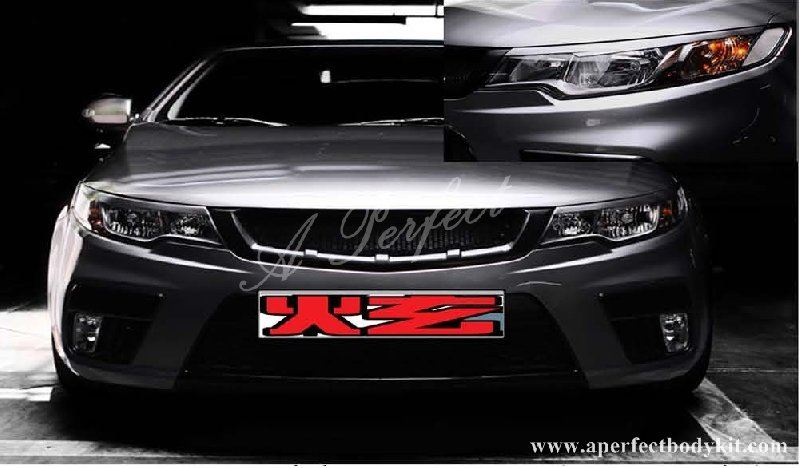 Kia Forte Front Eye Lid & Front Grill (FN Style)