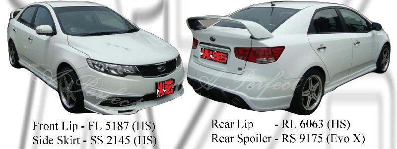 Kia Forte 09 (HS) & Spoiler (Evo X Style)