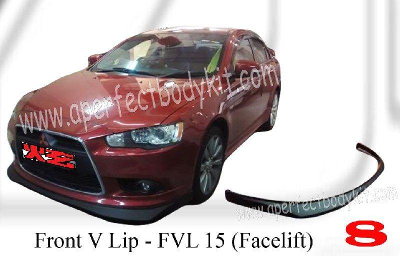 Mitsubishi Lancer EX Facelift Front V Lip