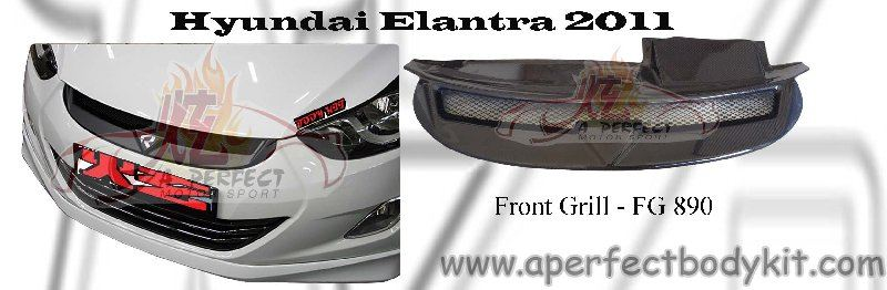 Hyundai Elantra 2011 RR Front Grill