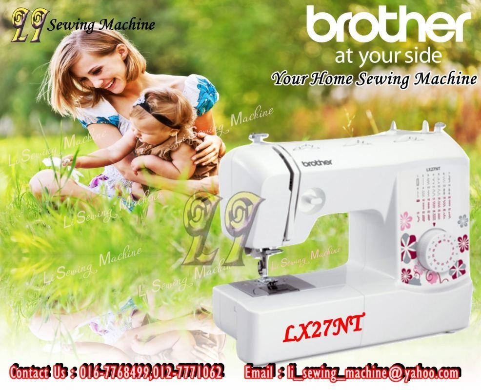 Mesin Jahit Portable Brother LX27Nt