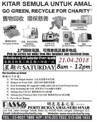 21.04.2018 Saturday P.A.S.S. Mobile Collection Centers