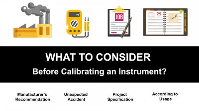 What to Consider Before Calibrating an Instrument