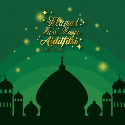 Kami mengucapkan Selamat Hari Raya Aidilfitri Maaf Zahir & Batin kepada seluruh rakyat Malaysia