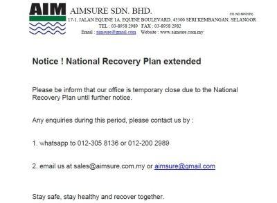 NRP notice