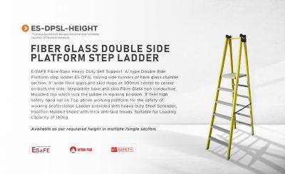 Fiber Glass Double Side Platform Step Ladder