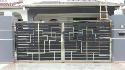 To supply & installation stainless steel door gate , grill gate