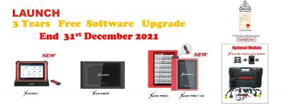 3 YEARS FREE SOFTWARE UPGRADE (END 31st DECEMBER 2021)
