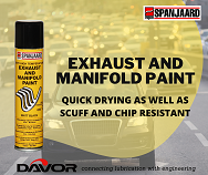 Quick drying spanjaard Exhaust & Manifold Paint spray which is heat resistant up to 650c