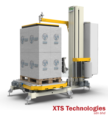 Turn Table Wrapping Machine by XTS Technology (Johor Malaysia, Singapore, New Zealand, Australia)