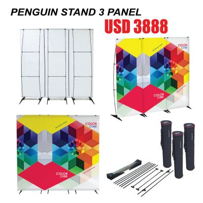 penguin stand 3 panel (3 in1 )