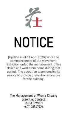 NOTICE update 11.04.2020