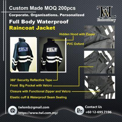 Raincoat Waterproof Full Body Custom Made