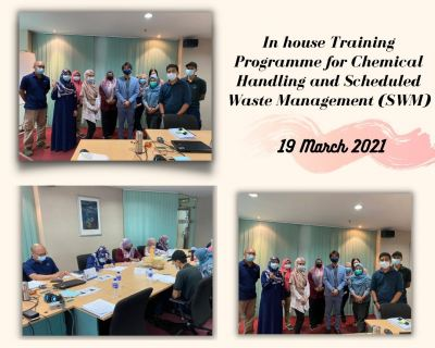 In-House Training Programme for Chemical Handling and Scheduled Waste Management (SWM)