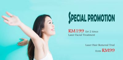 RM199 2x Laser Facial, Laser Hair Removal Trial from RM99 onwards!