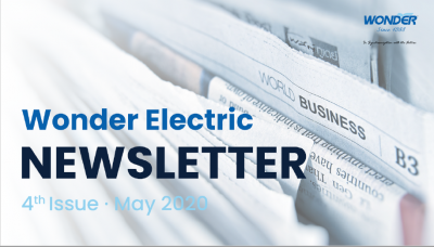 WONDER ELECTRIC NEWSLETTER 4th Issue - May 2020